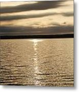 Cloudy Sunrise Metal Print
