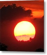 Cloudy Sunset 21 May 2013 Metal Print