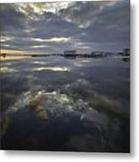 Cloudy Terrys Cove Metal Print