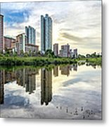 Clover Reflections Metal Print