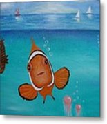 Clown Fish And Friends Metal Print