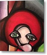 Clown In Awe Metal Print