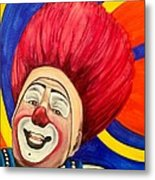 Watercolor Clown #17 Mark Carfora Metal Print