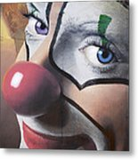 Clown Mural Metal Print