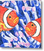 Clownfish Couple Metal Print