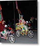 Clowns On Bikes Metal Print