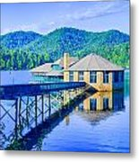 Clubhouse On Lake Tahoma Metal Print