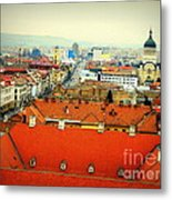 Cluj From Above Metal Print