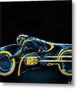 Clu's Lightcycle Metal Print