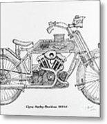 Clyno-harley-davidson Metal Print