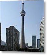 C N Tower Toronto Metal Print