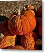 Knarly Pumpkin Metal Print