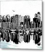 Vancouver Canada Coal Harbour Centre Panel Metal Print