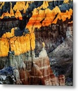 Coal Mine Canyon Aglow Metal Print