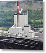 Coal Mine Electrical Energy Power Plant In Nature Metal Print