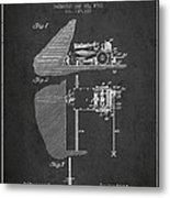 Coal Mining Machine Patent From 1903- Charcoal Metal Print