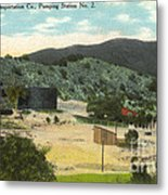 Coalinga Oil And Transportion Co. Pumping Station No. 2 Circa 1910 Metal Print