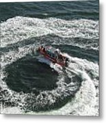 Coast Guard Ship - Port Of Los Angeles Metal Print