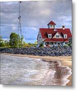 Coast Guard Station In Muskegon Metal Print
