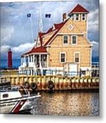 Coast Guard Station On Muskegon Lake Metal Print