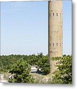Wwii Coast Guard Tower At Cape Henlopen State Park In Delaware Metal Print