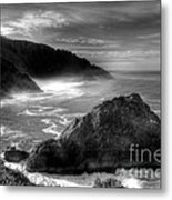 Coast Of Dreams 7 Bw Metal Print