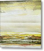 Coast Rhythms And Textures Yellow And Sepia 1  Metal Print by Mike   Bell