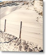 Coastal Dunes In Holland Metal Print