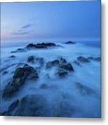 Coastal Landscape At Trollskjeran Metal Print