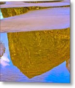 Coastal Landscape In Abstract 2 Metal Print