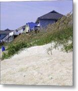 Coastal Living In Topsail Beach Nc Metal Print