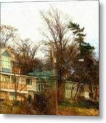 Coastal Living On The Dunes Of The Big Lake Metal Print by Rosemarie E Seppala