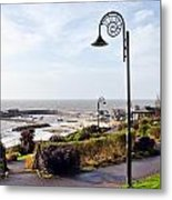 Coastal Overview At Lyme Regis Metal Print