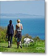 Coastal Path Walk Metal Print