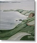 Coastal Ribbon Metal Print