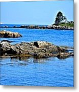 Coastal Route 1 In Maine Metal Print