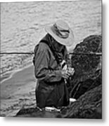 Coastal Salmon Fishing Metal Print