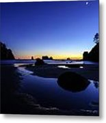 Coastal Sunset Skies Reflection Metal Print