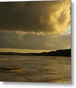 Coastal Winters Afternoon 2 Metal Print by Amy-Elizabeth Toomey