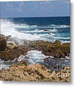Coastline Surge Metal Print