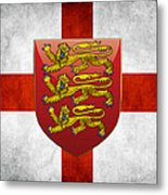 Coat Of Arms And Flag Of England Metal Print