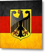 Coat Of Arms And Flag Of Germany Metal Print