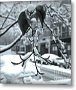 Coat Of Ice - Winter In New York Metal Print