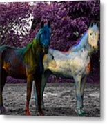 Coats Of Many Colors Metal Print