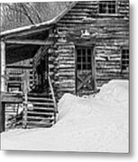 Slayton Pasture Cobber Cabin Trapp Family Lodge Stowe Vermont Metal Print