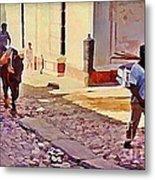 Cobble Stone Streets Of Cuba Metal Print