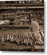 Cobblers Tools Bw Metal Print