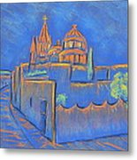 Cobblestones To The Basilica Metal Print by Marcia Meade
