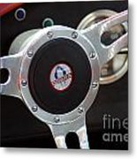 Cobra Steering Wheel Metal Print