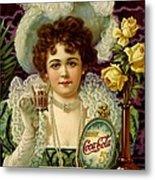 Coca Cola 5 Cents Metal Print